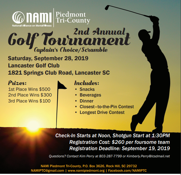 NAMI Piedmont Tri-County Golf Outing